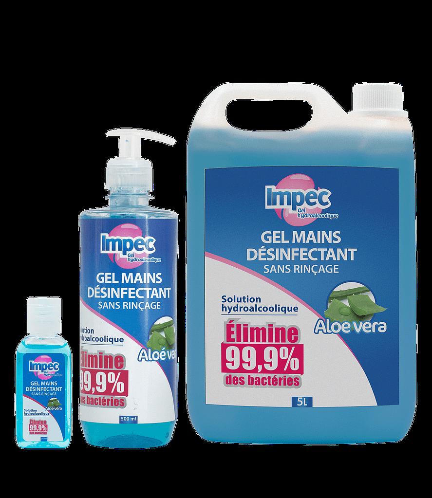 Gel mains hydroalcoolique IMPEC
