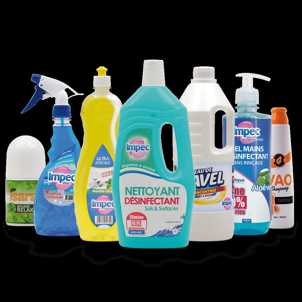 Produits d'entretiens et d'hygiène (Maison Impec)